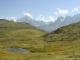 Chaîne du Mont Blanc au fond (4 septembre 2005)
