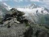 Cairn devant l'Aiguille d'Argentière
