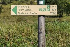 Suivre la direction de l'Aiguillette des Posettes (21 septembre 2019)