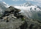 Cairn devant l'Aiguille d'Argentière (27 juillet 2004)