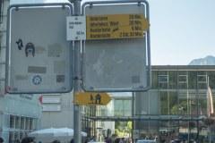Départ à la gare d'Interlaken Ost où il faut suivre la direction du Harderbahn (15 septembre 2019)