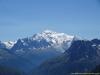 Le Mont Blanc avec l'Aiguille du Belvédère et de Mesure au premier plan à droite