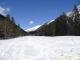 Prise de vue sur le golf recouvert de neige