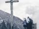 Arrivée à la croix matérialisant le sommet de la Bourgeoise (2 janvier 2019)