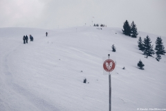 Suivre le sentier balisé pour rejoindre la Bourgeoise visible à quelques mètres de là (2 janvier 2019)