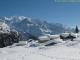 Chalets d'Ayères sur fond de massif du Mont-Blanc (Mars 2009)