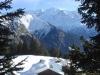 Chalets des Mollays devant le Mont Blanc (Mars 2008)