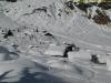 Certains chalets plus petits sont entièrement recouverts (Mars 2009)