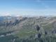 Panorama réalisé depuis le Cheval Blanc, avec le Buet à gauche et le sommet du Cheval Blanc à droite.