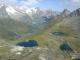 Magnifique vue plongeante sur les lacs depuis la Tête de Fonteinte