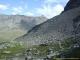 Chemin plus large entre le Col des Chevaux et le Grand St-Bernard et vue sur l'Arête de Tcholeire et la Pointe de Barasson