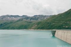 Lac de Moiry vu depuis le parking du barrage (28 juillet 2018)