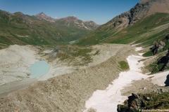 Vue sur la moraine du Glacier de Moiry (29 juillet 2018)
