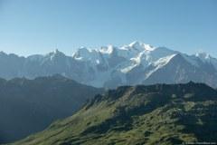 Vue sur le Massif du Mont-Blanc depuis le Col d'Anterne (18 août 2019)