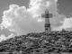 Croix au sommet du Reculet (9 avril 2017)