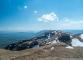 Arrivée au Reculet avec vue sur les sommets de l'Ain et le Vuache à gauche (9 avril 2017)