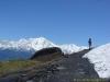 Sentier face au Mont-Blanc