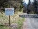 La route goudronnée menant au Châtelet d'Ayères est désormais fermée (17 avril 2017)