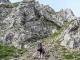 Montée dans les rochers (3 septembre 2016). Merci à Yannig Le Louerec pour la photo !