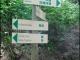 Panneau dans le bois des Chosalets