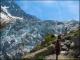 Sentier longeant le glacier
