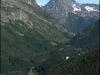 Pointe de la Terrasse et Aiguille de Loriaz depuis le bas de la piste de ski empruntée le matin
