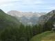 Les sommets entourant le Lac d'Emosson au loin, dont Bel Oiseau (24 août 2013)
