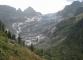 Glacier du Trient qui a considérablement reculé depuis une vingtaine d'années (24 août 2013)