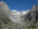 Glacier du Triolet suplombé par l'Aiguille de Talèfre