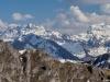 Vue sur les Aiguilles Blanches et le Massif du Giffre (9 avril 2017)