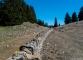Chemin du retour allant vers la Barillette le long d'un mur typique du Massif du Jura (23 avril 2017)