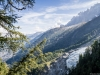 Vue sur le Glacier des Bossons