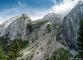 Massif du Bargy avec le pierrier menant au Col de l'Encrenaz au milieu (23 juillet 2017)
