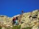Petite échelle (que l'on peut contourner) pour rejoindre le haut du sentier (7 aout 2015)