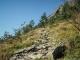 Sentier assez raide démarrant du Col (7 aout 2015)