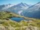 Lac des Chéserys sur fond de Glacier d'Argentière (7 aout 2015)
