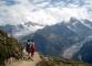 Sentier face aux glaciers du Tour et d'Argentière (18 juillet 2003)
