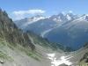 Panorama sur le Glacier du Tour, l'Aiguille d'Argentière, le Glacier d'Argentière et l'Aiguille Verte
