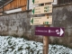 Du parking de la Frasse, suivre la direction de la Combe d'Armancette (25 novembre 2018)