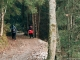 Le sentier commence son ascension dans la forêt (25 novembre 2018)