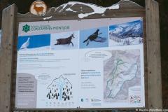 Panneau de la réserve naturelle au départ du sentier (25 novembre 2018)