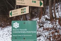 Quelques mètres plus loin, tourner à droite vers la Combe d'Armancette (25 novembre 2018)