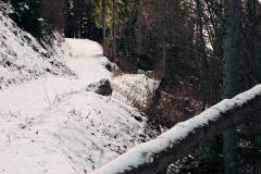 Ligne droite avant l'oratoire et la fontaine (25 novembre 2018)