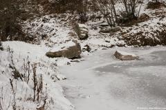 Le Lac d'Armacette sous la glace