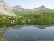 Le Lac de Pormenaz avec vue sur le Col d'Anterne (10 juillet 2010)
