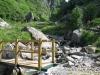 Passerelle sur le torrent du Souay (10 juillet 2010)