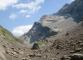 Vue sur le Col des Chambres au fond, la Pointe de Bellegarde, et les restes du Glacier du Folly