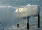 Spectacle glacial sur la plage de la Savonnière à Collonge-Bellerive près de Genève.