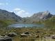 Premier Lac Jovet avec les Aiguilles de la Penaz à droite