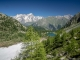 Vue sur le Massif du Mont-Blanc et le Lago d'Arpy (18 juin 2017)